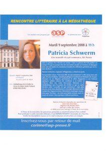 Patricia Schwerm Auteur et romancière